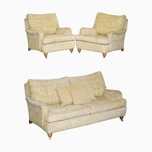 Lansdowne Sofa & Sessel mit ägyptischem Bezug von Duresta, 3er Set