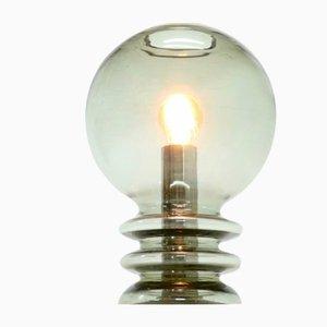 Skulpturale Tischlampe aus Glas von Glashütte Limburg, 1960er