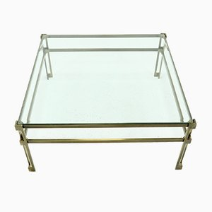 Coffee Table in Solid Brass, 1970s