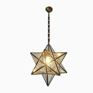 Antike Deckenlampe in Sternenform