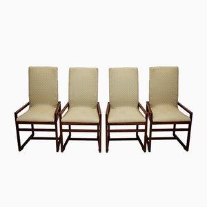 Italienische Esszimmerstühle, 1970er, 4er Set