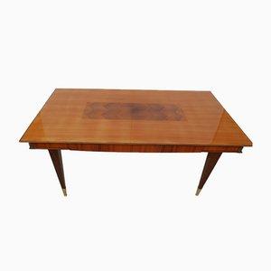 Großer Mahagoni Tisch, 1960er
