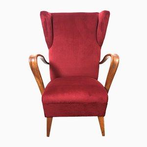 Italian Lounge Chair by Paolo Buffa, 1950s