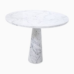 Center Table in White Carrara Marble by Angelo Mangiarotti for Skipper