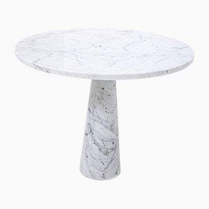 Center Tisch aus weißem Carrara Marmor von Angelo Mangiarotti für Skipper