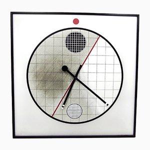 Wall Clock by Kurt B. DelBanco for Morphos, 1980s