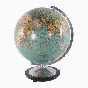 Mid-Century Glass Globe with Light from Columbus DuoErdglobe, Germany