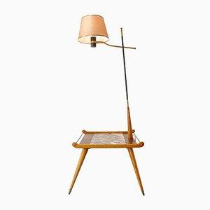 Ash and Undianuno Wood Floor Lamp, 1950s