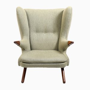 Teak Model 91 Bear Lounge Chair by Svend Skipper, 1950s