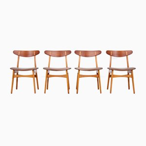 CH30 Dining Chairs by Hans J. Wegner for Carl Hansen, 1950s, Set of 4