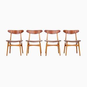 CH30 Esszimmerstühle von Hans J. Wegner für Carl Hansen, 1950er, 4er Set