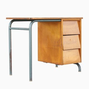 School Desk by Jacques Hitier for Mobilor, France, 1950s