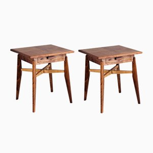 French Reconstruction Style End Tables, 1950s, Set of 2