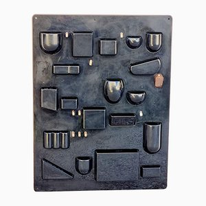 Großes schwarzes Mid-Century Uten.Silo Regal von Dorothee Maurer-Becker, 1960er
