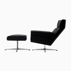 Siesta 62 Chair & Footstool by Jacques Brule for Kaufeld, Set of 2