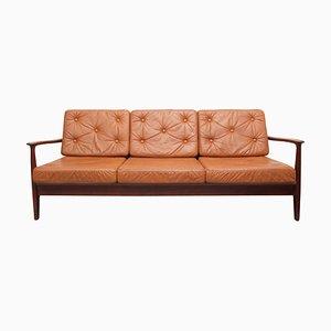 Sofa oder Tagesbett aus Teak und Leder von Eugen Schmidt für Soloform, 1960er
