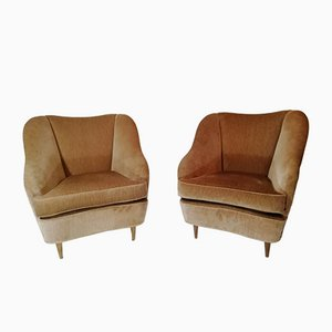Mid-Century Armchairs by Gio Ponti for Casa e Giardino, Italy, 1940s, Set of 2