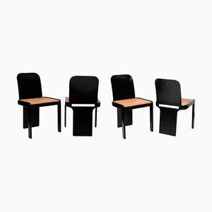 Mid-Century Modern Chairs by Pierluigi Molinari for Pozzi, Italy, 1970s, Set of 4