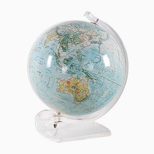 Mid-Century Modern Lucite Light Up Globe from Hammond Scan-Globe, 1970s
