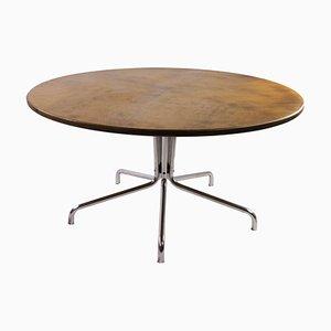 Runder Ahorn Tisch mit Chrom Gestell von Thonet, 1970er