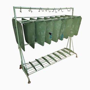 Large Industrial Coat Rack in Green