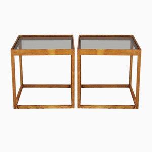 Cube Tische von Kurt Østervig für KB Møbler, Denmark, 1960er, 2er Set