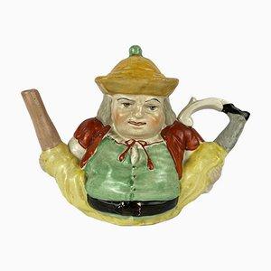 Ceramic Toby Peg Leg Teapot, Staffordshire, UK, Late 19th Century