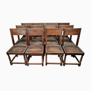 Louis XIII Chairs in Oak, 1850s, Set of 12