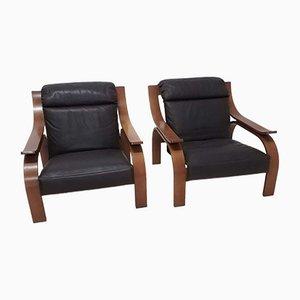 Woodline Stühle von Marco Zanuso für Arflex, 2er Set