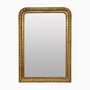 Französischer Napolon III Spiegel mit vergoldetem Holzrahmen