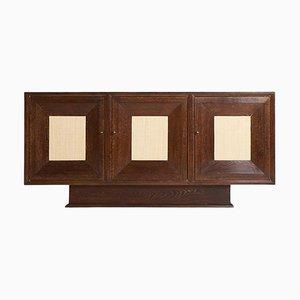Art Deco Sideboard aus gekalkter Eiche