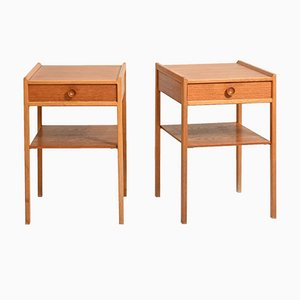 Scandinavian Teak Bedside Tables, Set of 2