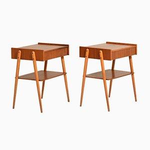 Scandinavian Bedside Tables from AB Carlström & Co Möbelfabrik, Set of 2