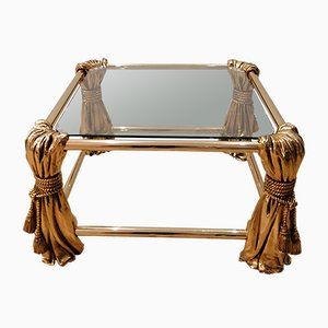 Hollywood Regency Gold Coffee Table, 1970s