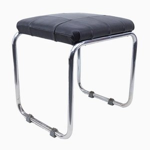 Bauhaus Stool in Leather and Chrome from Mauser, 1930s