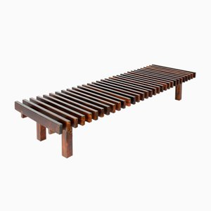 Mid-Century Modern Slatted Bench from Forma Manufacture, Brazil, 1970s