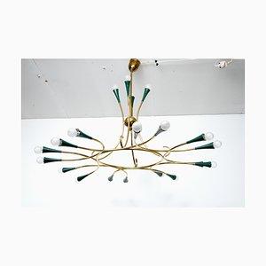 Mid-Century Italian Sputnik Chandelier, 1950s