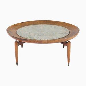 Mid-Century Modern Tisch mit Marmorplatte von Giuseppe Scapinelli, Brazil, 1950er