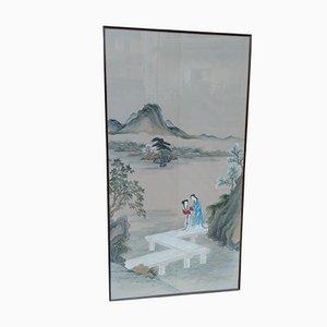 Japanische Malerei, Gouache & Bütten