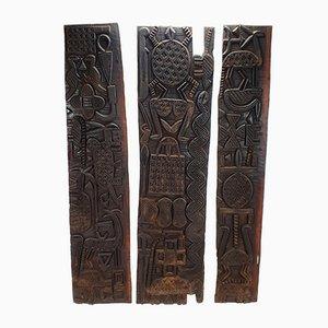 3-türige nigerianische Tafel, 1920er, 3er Set