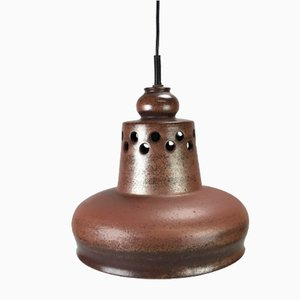 Braune Mid-Century Space Age Deckenlampe aus Keramik