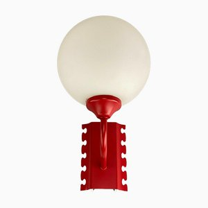 Mid-Century Space Age Ball Sconce in Opal Glass