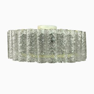Large Mid-Century Chandelier in Brass & Glass from Doria, 1960s