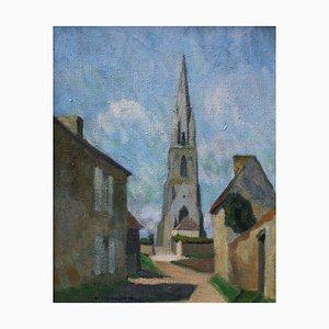 André Lemaître, The Church in Billy, 1936, Öl auf Leinwand, Gerahmt