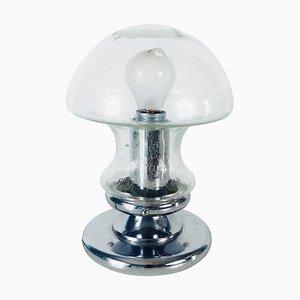 Eisglas Tischlampe von Doria, 1970er