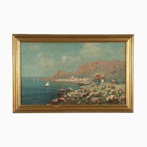 Marine Glimpse, Öl auf Leinwand, 1932, gerahmt