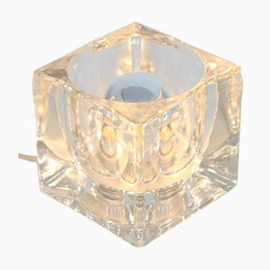 Small Glass Ice Cube Lamp from Peill & Putzler, Germany, 1960s