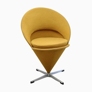 Cone Chair aus Original Stoff von Verner Panton, Dänemark, 1960er