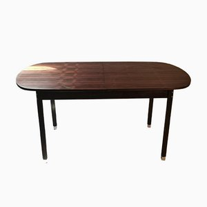 Oval Extendable Rosewood Table, Italy, 1960s