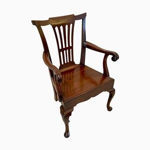 George III Schreibtischstuhl aus Mahagoni